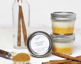 Soy Candle | Mason Jar Candles | Food Gift | Container Candles | Homemade Candles | Dessert Scented Candle | Cinnamon Scented Candle 4 oz