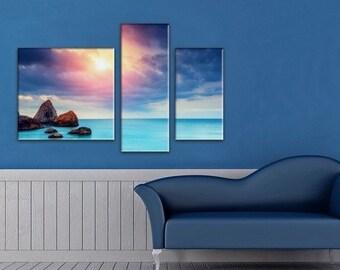 Extra Large Wall decor 5 Panel Canvas, Photo Print on Canvas, seascapeWall Art,  Large Canvas art, Interior Art, Room Decoration, Photo gift