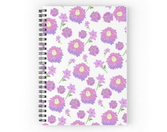 Spiral Notebook: Purple Roses