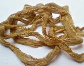 Camel x 1 m Silk Ribbon