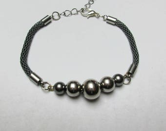 Bracelet steel beads and Swarovski Element colors available: