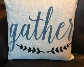 Gather Throw Pillow / Decorative Throw Pillow Cover /