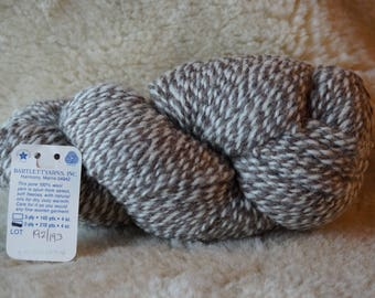 GRAY and DENIM 2 ply marl worsted weight yarn from Bartlettyarn sale