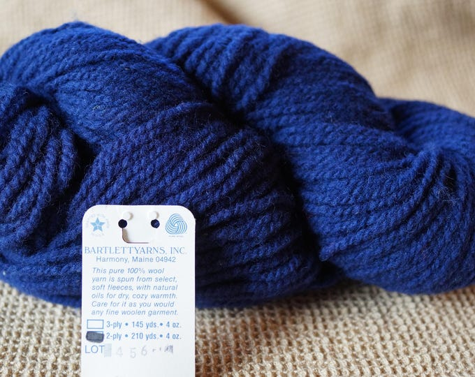 Navy Blue 2 ply worsted weight wool yarn from Bartlettyarn sale