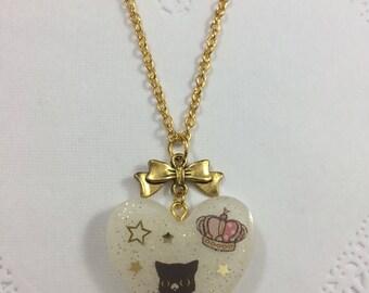 Kawaii Sentimental Circus Cat Necklace