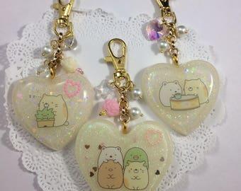 Kawaii Sumikko Gurashi Bag Charms Keychains