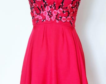 Cherry Blossom and Raspberry Sorbet Dress