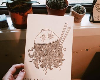 Jellyfish Noodle Drawing, Original