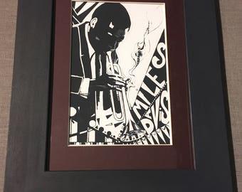 Miles Davis Framed Limited Edition Signed Print
