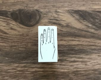 No4 hand design wooden stamp