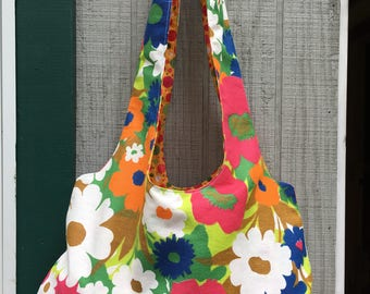 Hobo Bag from Vintage Fabric