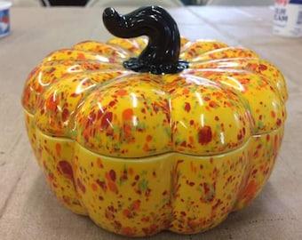 Funky Pumpkin Fall Candy Dish