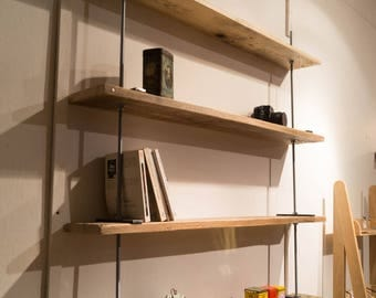 Shelf wood and threaded rods XXL