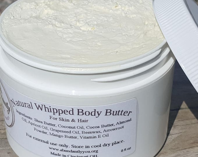 Featured listing image: Natural Whipped Body Butter for Hair and Skin 8 oz., 4 oz., 2 oz. (Local Pickup Only Cincinnati Area | See Events Page)