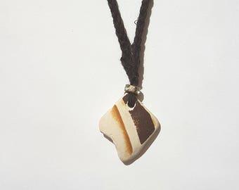 Sea pottery pendant necklace