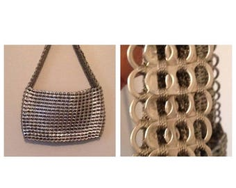 On Sale Gorgeous Escama Silver Upcycled Pop Top Crochet Purse