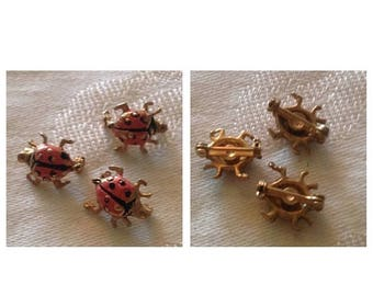 Anniversary Sale Vintage Set of 3 LadyBug Scatter Pins