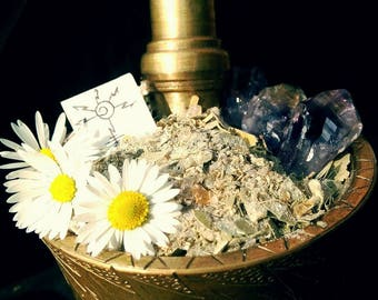 Sun incense blend, purification incense blend, worship of the God and the Men, solar enery incense blend