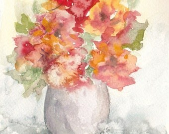 bouquet 40 - original watercolor painting