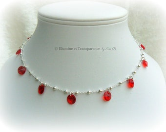 Sequins Silver 925/1000 th and Swarovski Elements Crystal Necklace
