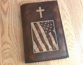 Bible Cover, Leather Bible Cover, Personalized Leather Bible Cover, Custom Bible Cover, Leather Bible Case, Handmade Bible Cover, Christian