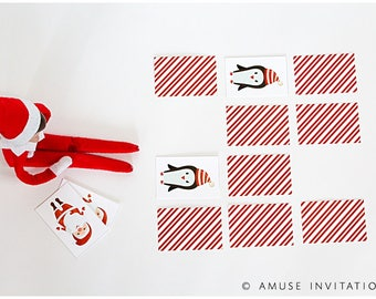 Elf Matching Game, Christmas Matching Game, Christmas Elf Accessories, Santa's Elf Prop, Elf Printable, Christmas Elf Ideas, Easy Elf Ideas
