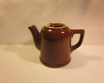 Brown Hall teapot, vintage Hall teapot