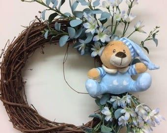 Baby Boy Wreath—Blue Baby Wreath—Baby Wreath
