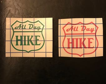 All Day Hike decal / sticker