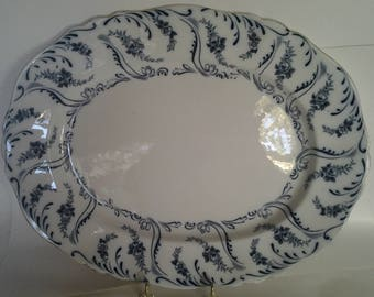 Constance pattern flow blue platter