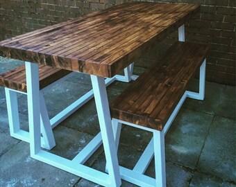 Handmade modern industrial dinig set