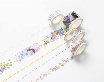 Girls Washi Tape - Purple Set