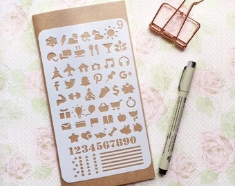 Bullet Journal Stencil #9 - Planner, Journal, Craft, Scrapbooking, Decoration