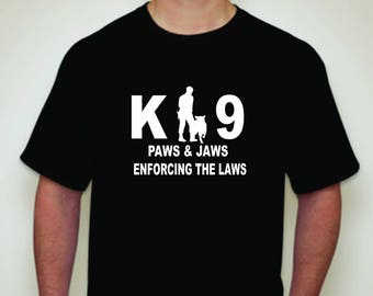 K-9 T-shirt-Law Enforcement-T-shirt-Police Dog T-shirt