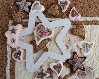 Baby girl mobile, Hearts mobile, Pink mobile, Stars mobile,  Felt mobile, Crib mobile, Nursery Decor, Pastel Colors