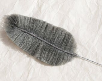 Crow faded: Feather textile jewelry, jewelry bags, accessories, decoration...