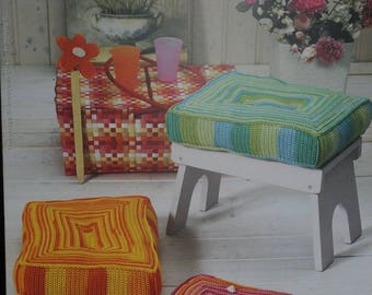 listing Intermezzo: pillows and baskets to crochet patterns