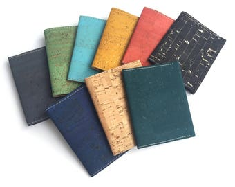 Cork slim wallet, many colors
