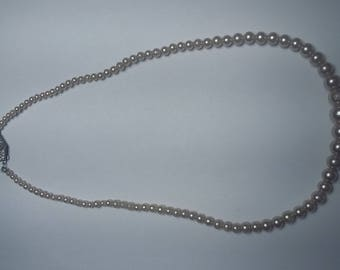 Sterling Silver Clasp Pearl Necklace