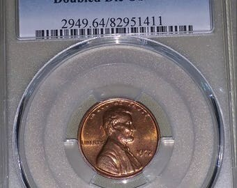 Error Coin - 1972 Lincoln Cent DDO, PCGS MS64RB, Mostly Red!