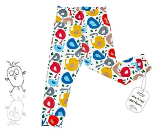 Baby leggings pattern PDF, baby sewing patterns, girls sewing patterns