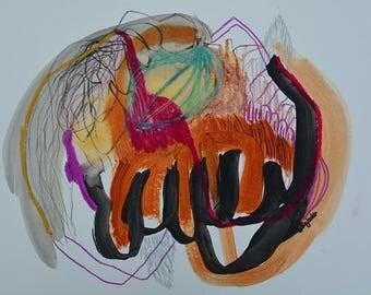 Abstrackte art, original art, wall painting, mixed media. wall art, modern, mixed media