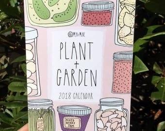 2018 Calendar - Illustrated Calendar - Garden Calendar