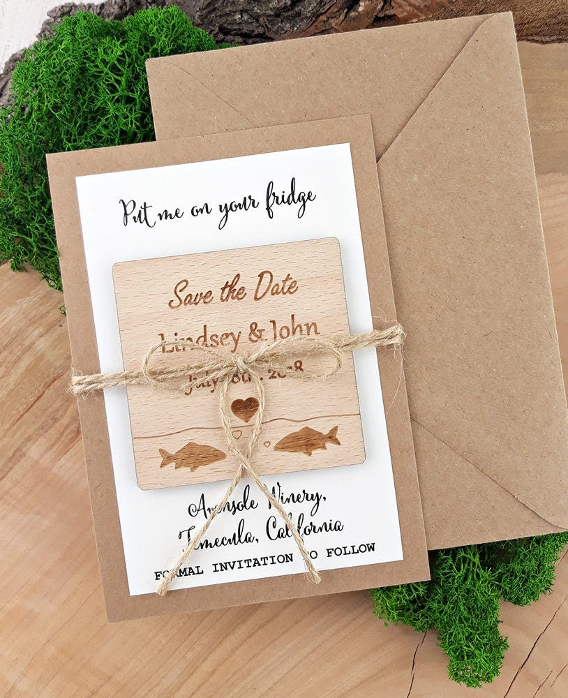 Fishing Save The Dates Fish Magnet Save The Date Fish Save The ...
