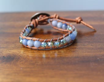 Blue Elephant wrap Bracelet