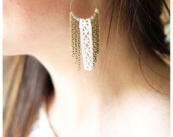 Dream catcher earrings lace