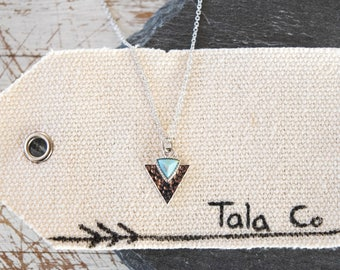 Naroa Hammered Triangle Necklace