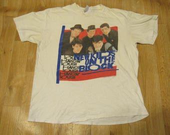 Vintage New Kids on the Block tour shirt 1980s 80s