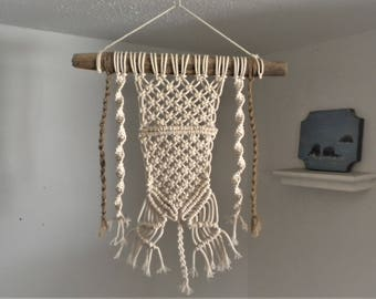 Handmade Cotton/Jute Macrame Wall-Hanging