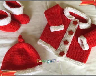 * Christmas special * vest + shoe + 1 month baby Hat